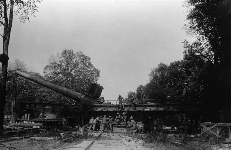 A German railroad gun.